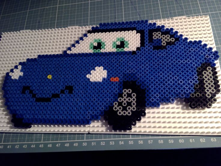 Hama beads Perler Disney Cars Sally