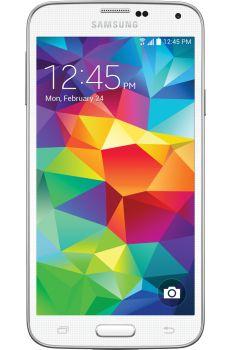 Samsung - Galaxy S 5 4G LTE Mobile Phone - Shimmery White (Verizon Wireless)