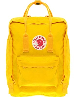 Fjallraven Kanken classic in yellow: great backpack for daily wear, school, or as a cute gym bag!