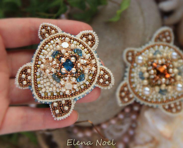 Bleu Turtle brooch with Swarovski crystals by ElenNoel on Etsy https://www.etsy.com/au/listing/500076957/bleu-turtle-brooch-with-swarovski