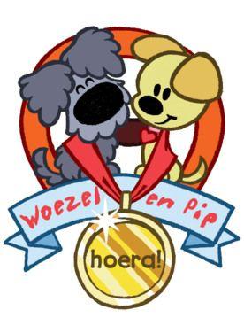 Woezel en Pip met medaille- Greetz