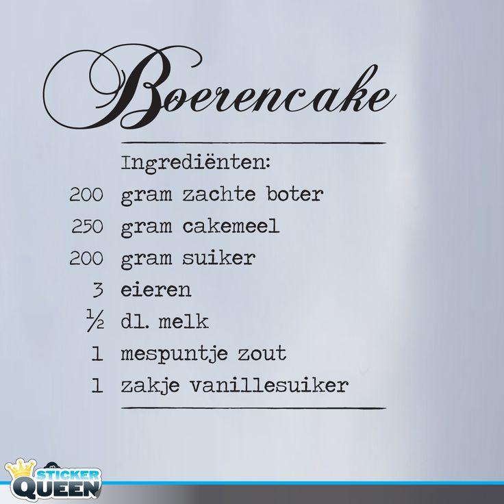 Artikel: LS0004 Recept van boerencake