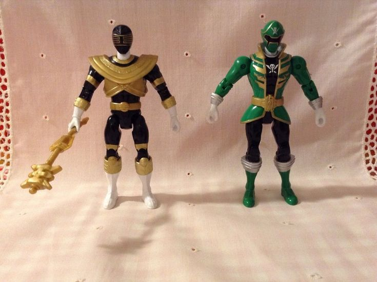 green mega force & black zeo power rangers with tool #Bandai