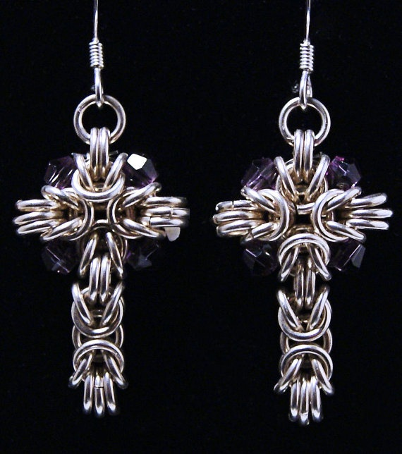 Lovely Sterling Silver Chainmaille Earrings
