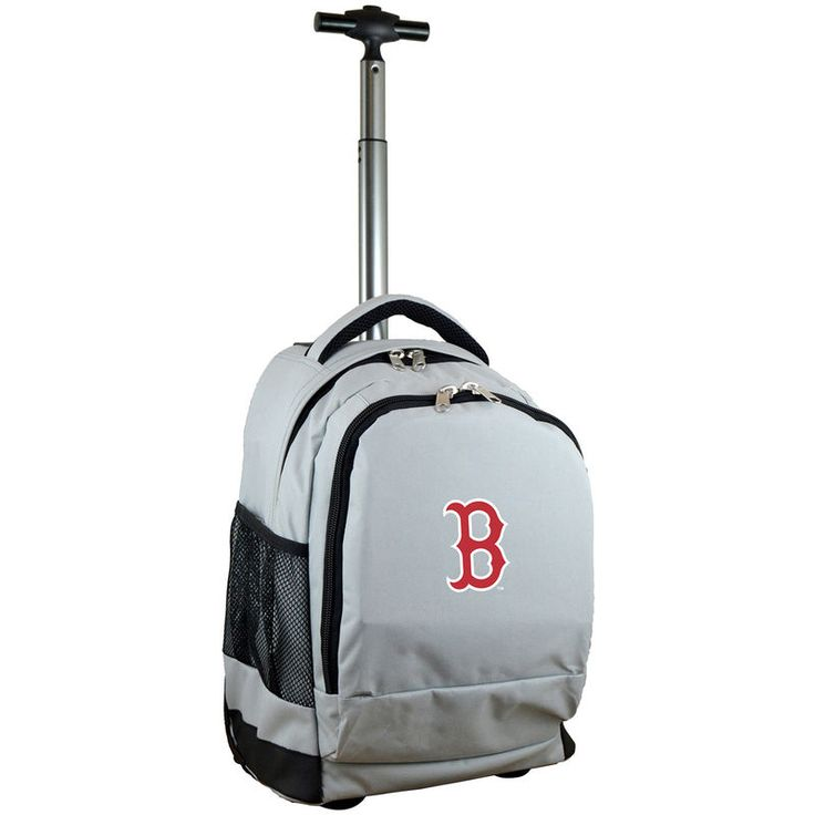 Boston Red Sox 19'' Premium Wheeled Backpack - Gray