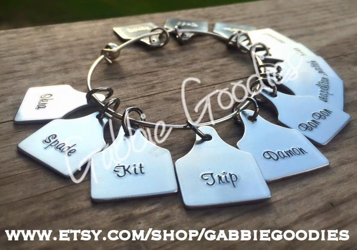 Custom Cattle Ear Tag bracelet, livestock, unique gift, personalized by…