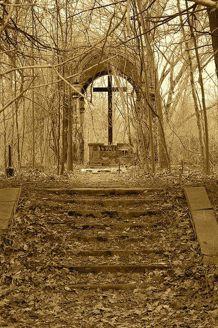 Former St. Mary's College Seminary, Patapsco Valley State Park, Howard County Maryland.  Nick-name hell house.