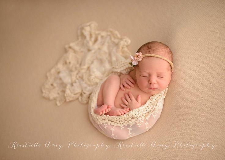 Newborn wrap photography props newborn wraps layers cream vintage lace wrap