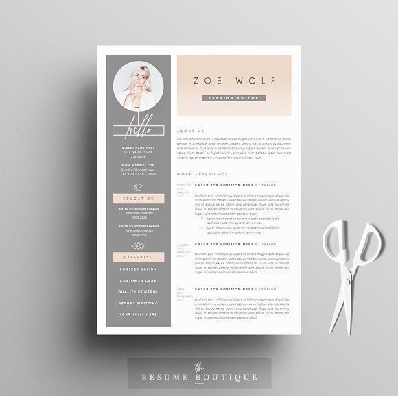 Resume Template 5pages    Dolce Vita by The.Resume.Boutique on @creativemarket Ready for Print Resume template examples creative design and great covers, perfect in modern and stylish corporate business. Modern, simple, clean, minimal and feminine layout inspiration to grab some ideas.