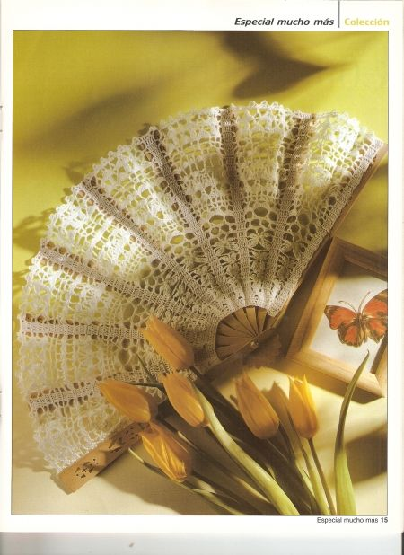Amor crochet Abanico♥LCF-MRS♥ con diagrama
