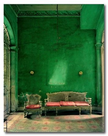 (via color my life {emerald} green with envy) I love green and pink!
