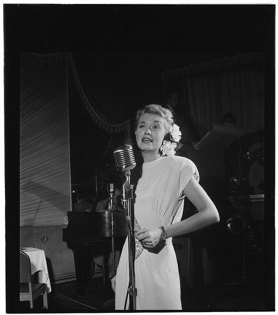 William Gottlieb - Portrait of June Christy, Club Troubadour, New York, N.Y. (c1947)