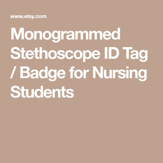 Monogrammed Stethoscope ID Tag / Badge for Nursing Students