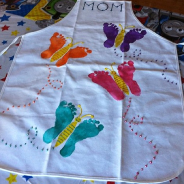 Butterfly Footprint Art - My mother's day present! <3