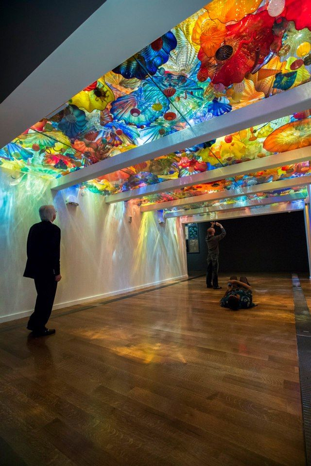 I want to stand under here. (Chihuly) Persian Ceiling — at VMFA Virginia Museum of Fine Arts.