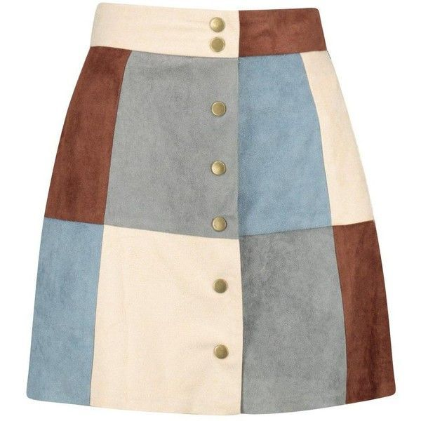 Boohoo Avah Patchwork Suedette A Line Mini Skirt (40 AUD) ❤ liked on Polyvore featuring skirts, mini skirts, midi skirt, short pleated skirt, a line maxi skirt, maxi skirt and short skirts