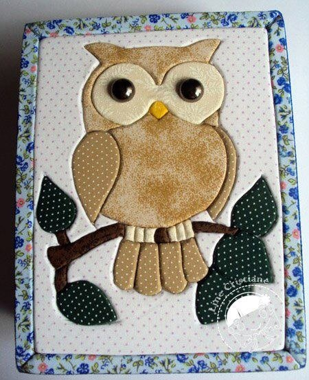 Owl - subtle fabric colours.