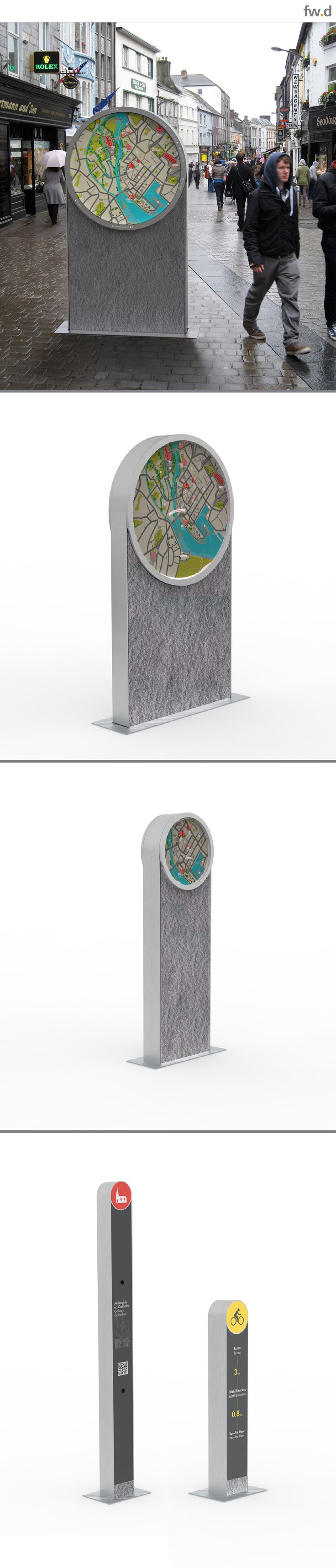 Street Furniture concept designs for Galway City, Ireland by fwdesign