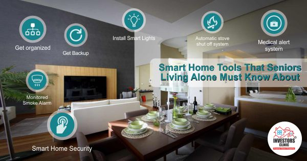 Smart Home Tools That Seniors Living Alone Must Know About: Living alone as a senior citizen can allow you to be independent and self-sufficient. http://www.investors-clinic.com/blog/sm