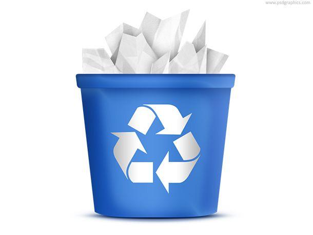 Recycling bin PSD