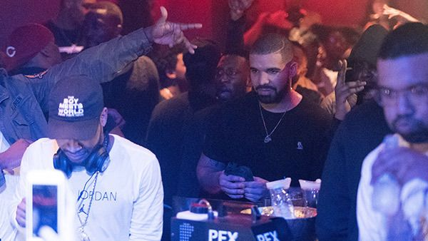 Drake Spends $40K At Wild Party In London Nightclub With Lingerie-Clad Dancers. February 17, 2017. (FameFlyNet)