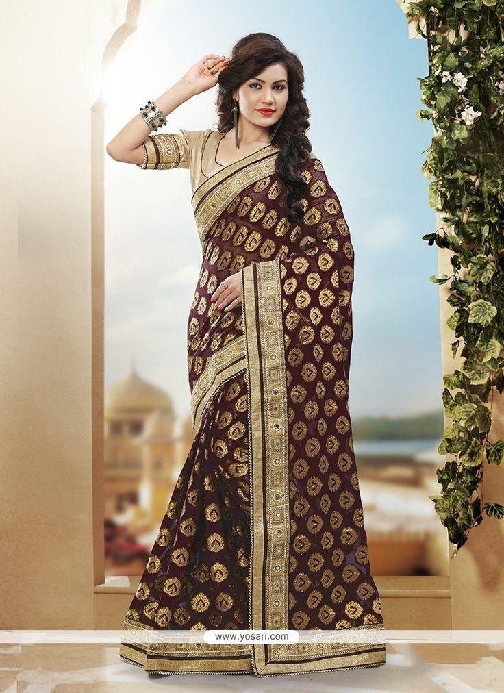 Latest Art Silk Brown Designer Traditional Saree Model: YOSAR10167
