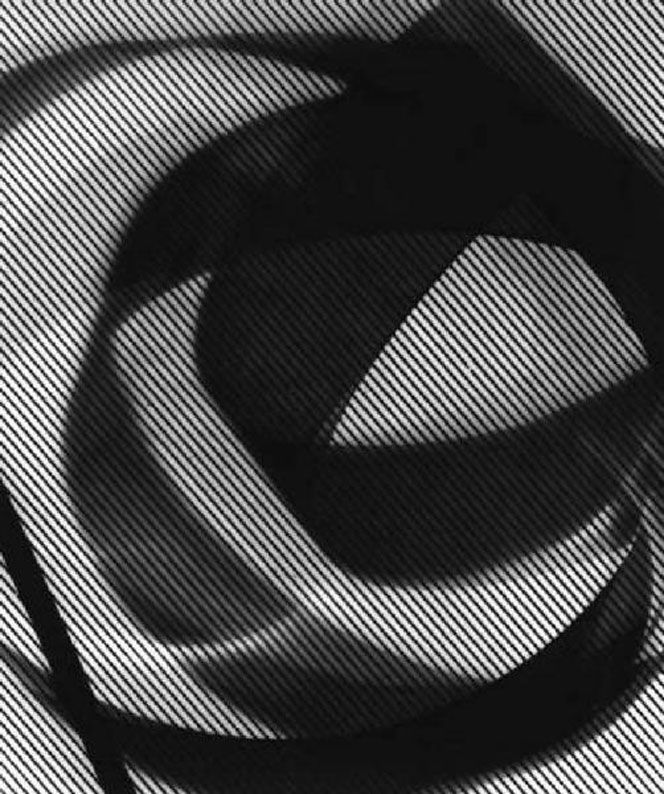 IW_Luigi-Veronesi-fotografo_11.  Appears to be back-lit translucent fabric and coiled ribbon.  Simple materials used to create a striking image