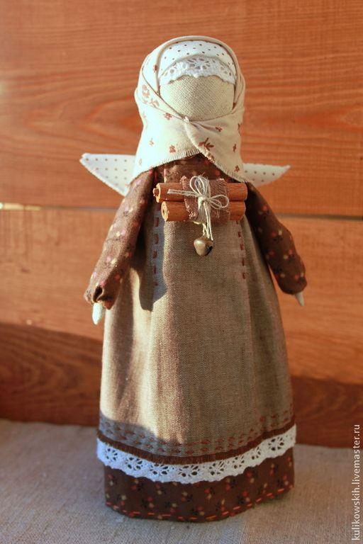 """Купить Кукла Ангел """"Пряная корица"""" - коричневый, корица, ангел, рождество, Новый Год, Крестины"""