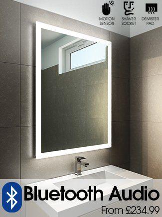 Halo Tall Led Light Bathroom Mirror Led Demister Bathroom Mirrors