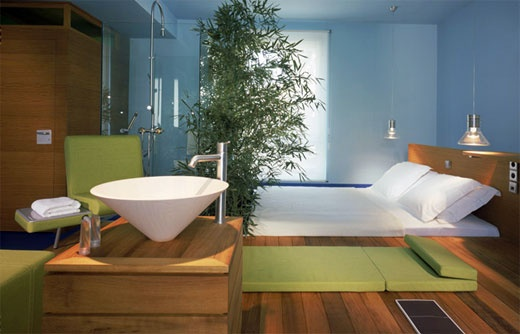 Minimalist hotel room design room pinterest for Minimalist hotel