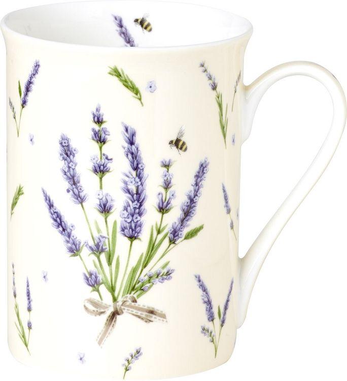 IHR Bouquet of Lavender cream Floral Bone China Mugs BOB728460