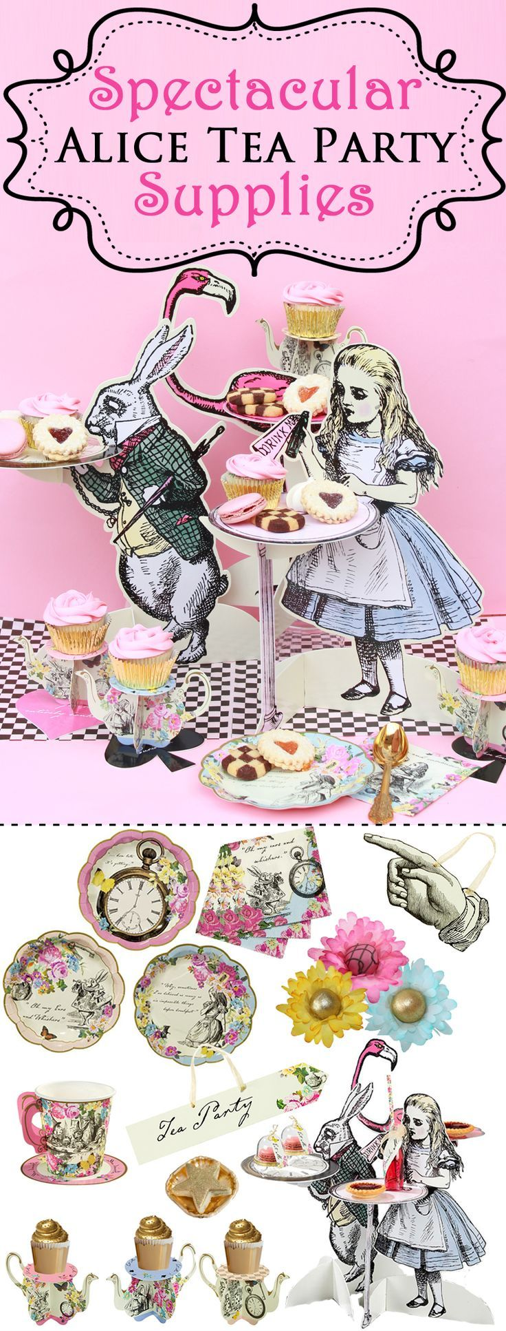You will immerse yourself in the wonderful world of Alice in Wonderland with our Mad Hatter Tea Party Decorations are perfect for you Alice in Wonderland Tea Party!!!