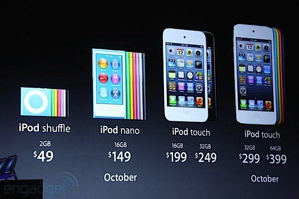 Todos los modelos de los Ipod y sus precios