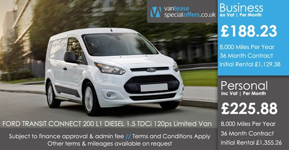 Ford Transit Connect 200 L1 Diesel 1 5 Tdci 120ps Limited Van