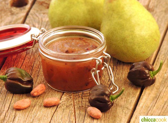 confettura di pere, habanero e semi di cacao