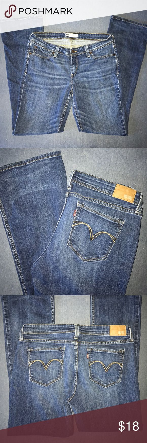Levi's Demi Curve Jeans Low rise bootcut skinny jeans in great used condition. W:32 L:32 Levi's Jeans Boot Cut