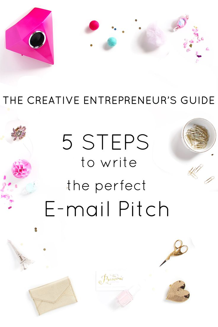 The Creative Entrepreneur's Guide: 5 Steps to the Perfect E-mail Pitch