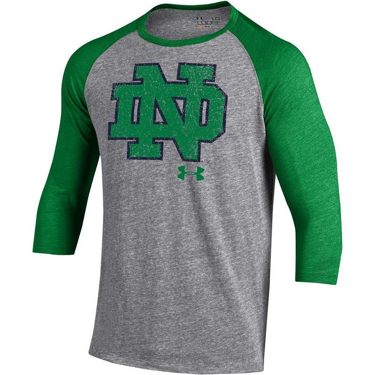 Men's Under Armour Notre Dame Fighting Irish Triblend Baseball Tee, Size: Medium, Other Clrs