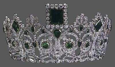 Norwegian Royal emerald and diamond tiara