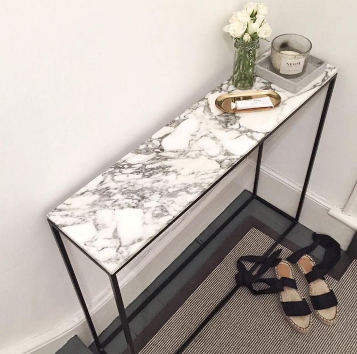 mahut marble console table from la redoute image by The Frugality