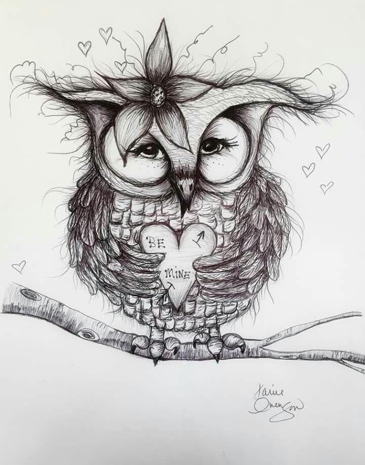 Картинки совы прикольные для тату, надписью