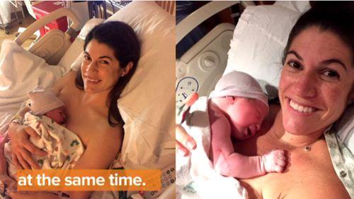 Сестры-близнецы родили в один день и час