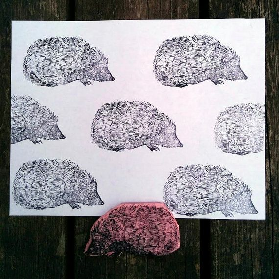 Hey, I found this really awesome Etsy listing at https://www.etsy.com/listing/275388250/hedgehog-hand-carved-rubber-stamp-for