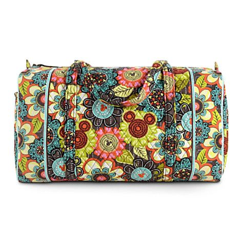The new #Disney Vera Bradley Perfect Petals Pattern - Duffel Bag - it's perfect, for sure!  #VeraBradley