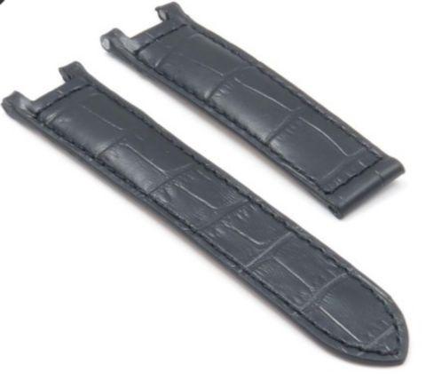 Cartier Pasha Watch Strap Black Croco Calf