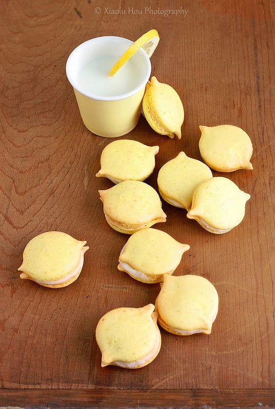Lemon Party Macarons