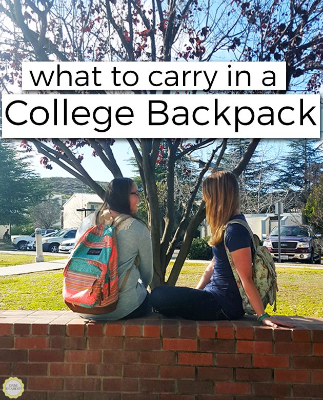 Not sure what to carry in a college backpack? Here a student breaks it down for you: the top 9 things you can't leave without! Don't worry, you won't be bringing your entire life with you.