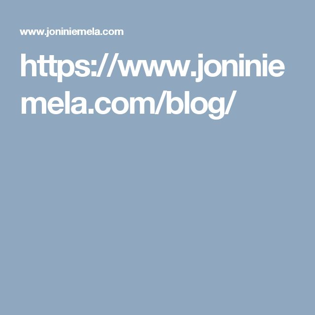 https://www.joniniemela.com/blog/