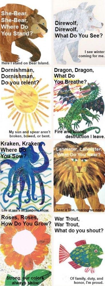 Game of Thrones Nursery Rhymes