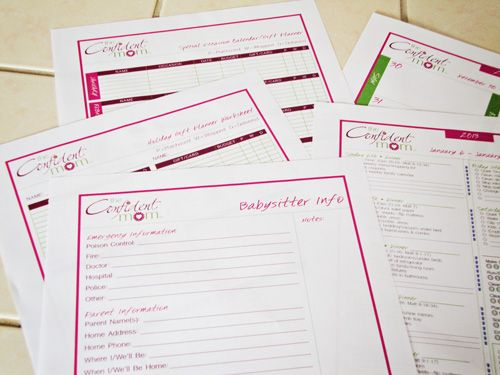 free printable household planner | The Confident Mom Weekly Household Planner Review and Giveaway!